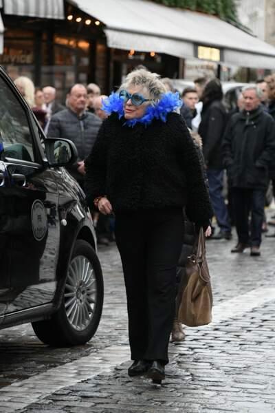 Obsèques de Michou à Paris : Catherine Lachens
