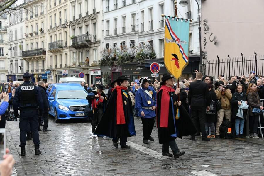 Obsèques de Michou en l'église Saint-Jean de Montmartre à Paris