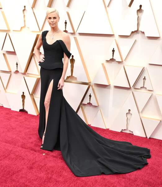 Oscars 2020 : Charlize Theron en Dior Couture
