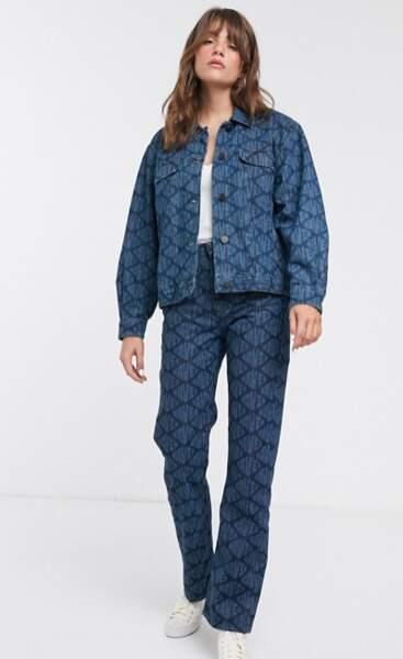 Veste en jean coupe boyfriend avec logo visible, Waven, actuellement à 28,99€ sur Asos