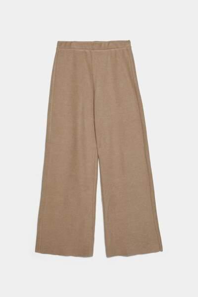 Pantalon au toucher doux, Zara, 19,95€