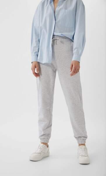 Pantalon jogger molleton, Stradivarius, 12,99€