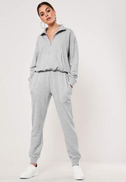 Ensemble gris pull et jogging, Missguided, 54,99€