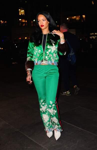 Rihanna adepte du vert dans la vie de tous les jours