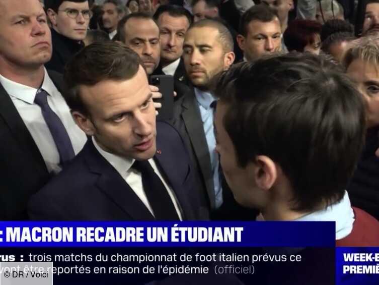 VIDEO Emmanuel Macron rembarre un étudiant au Salon de l'agriculture - Voici