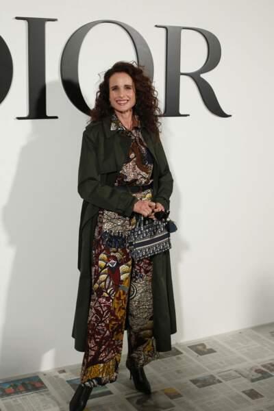 Fashion Week - Andie MacDowell au défilé Dior automne-hiver 2020/2021