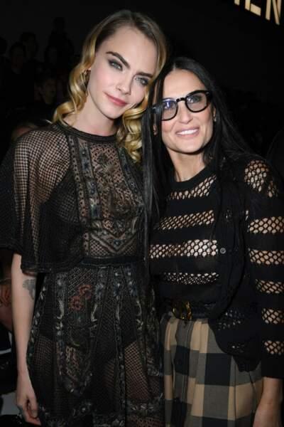 Fashion Week - Cara Delevingne et Demi Moore au défilé Dior automne-hiver 2020/2021