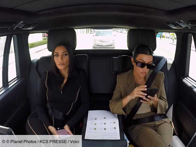 Kim Kardashian : les images de sa violente bagarre avec sa soeur Kourtney dévoilées - Voici