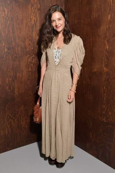 Fashion Week - Katie Holmes au défilé Chloé automne-hiver 2020/2021