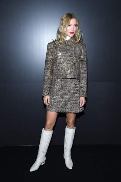 Défilé Vuitton : Lea Seydoux et son look très 60's