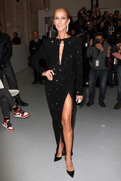 Do Céline Dion : la robe noire à paillettes ultra sensuelle