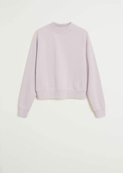 Sweat couleur lilas, Mango, actuellement à 15,99€