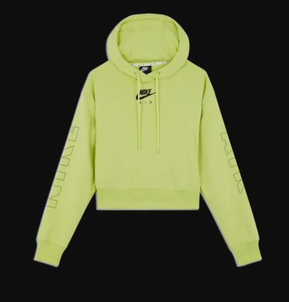 Hoody Nike Air Fleece jaune fluo, Nike sur Courir.com, 65€