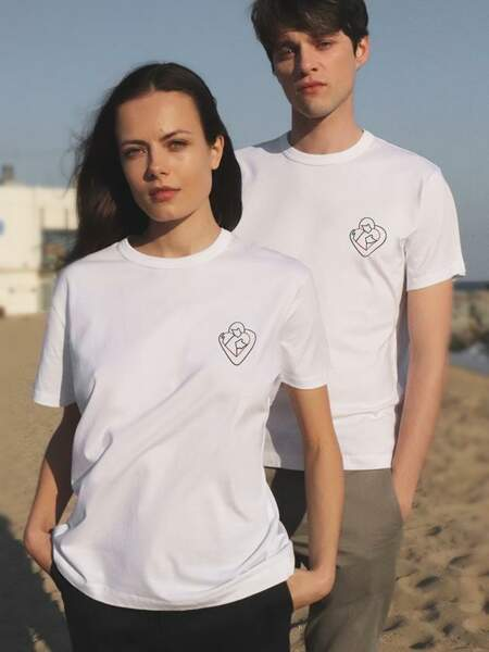 T-shirt solidaire unisexe, Figaret x Quentin Monge, 55€