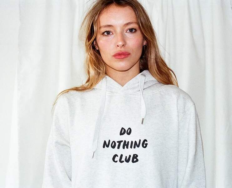 Le sweat gris white, Do Nothing Club, 55€
