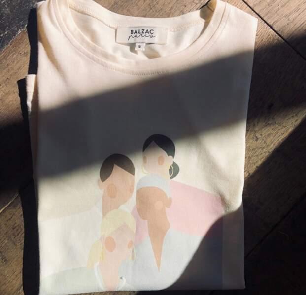 T-shirt solidaire en coton biologique, Balzac, 35€
