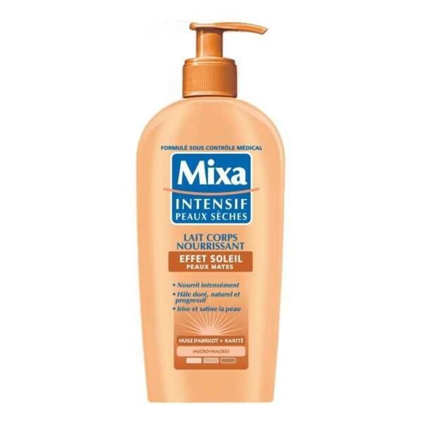 Lait corps nourrissant effet soleil, Mixa, 6,30€