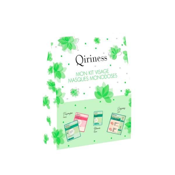 Kit Visage Masques Monodoses. 14,90 €, Qiriness.