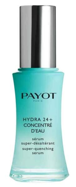 Sérum super-désaltérant. Hydra+ Concentré d'eau, 30 ml, 45,50 €, Payot.