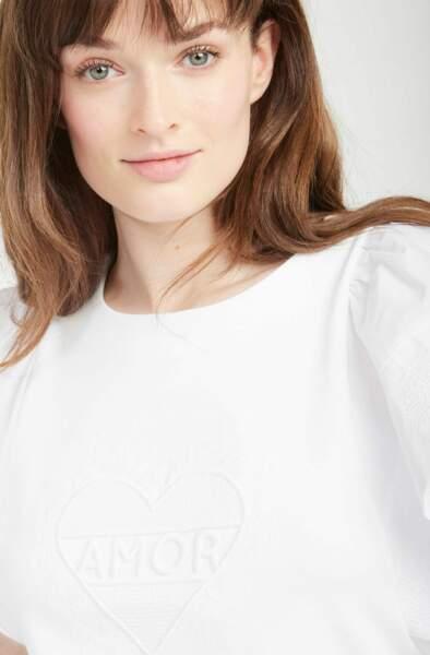T-shirt brodé Amor, Naf Naf, 39€