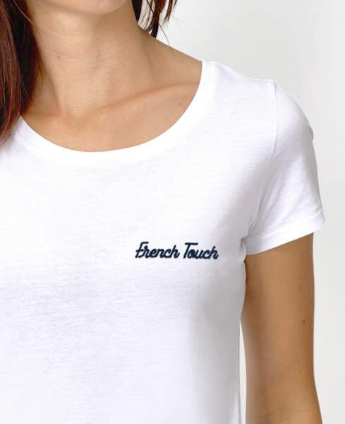 """T-shirt brodé """"French Touch"""", Madame T-shirt, 28.80€"""