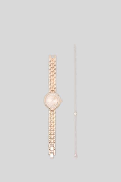 Ensemble montre et bracelet, finition brillante, C&A, 14,90€