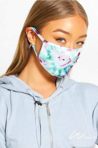 Masque Tie & Dye, Boohoo, actuellement à 5€