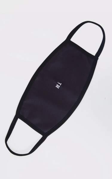 Masque noir à slogan Hi, PrettyLittleThing, 8€