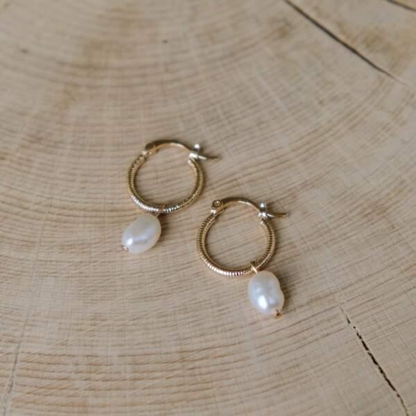Boucles d'oreilles Daphné, L'Atelier de Solène, 42€