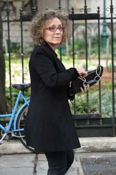 Mireille Dumas aux obsèques deGuy Bedos