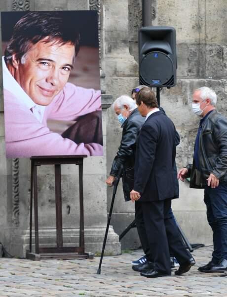 Jean-Paul Belmondo aux obsèques de Guy Bedos