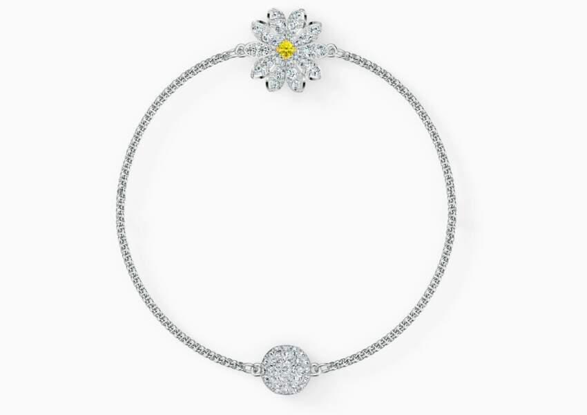 Bracelet avec fleur, Swarovski, 69€