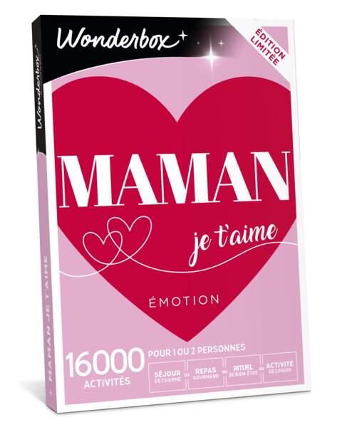 Cofrret Maman je t'aime Émotion, Wonderbox, 49,90 €
