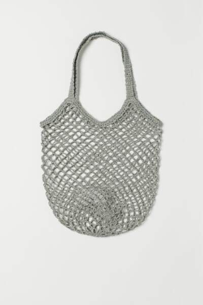 Sac filet gris, H&M, 12,99€