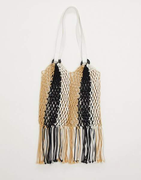 Sac cabas tressé à franges, My Accessories London, 30,99€ sur Asos