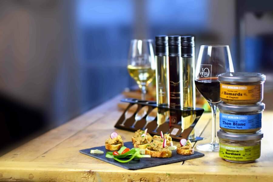 Coffret gourmand accord vins et produits de la mer. Made in France, 10-Vins, 79 €