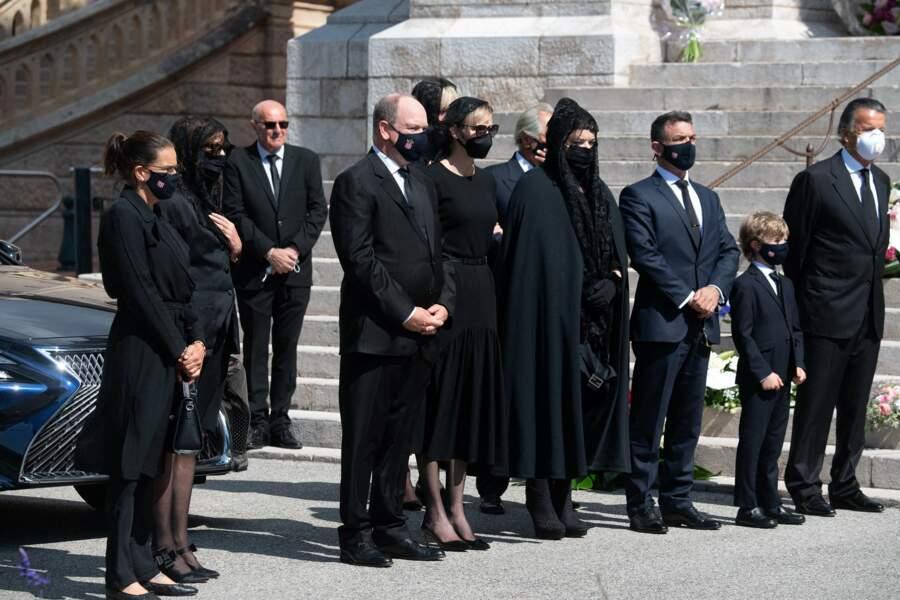 Toute la famille Grimaldi était présente pour faire leurs adieux à Elisabeth-Anne de Massy