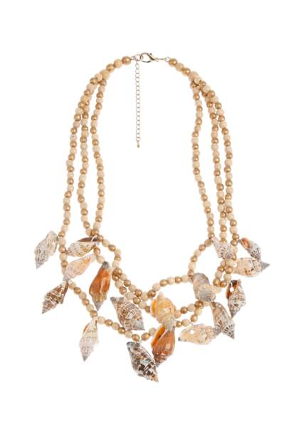 Collier coquillages, Caroline Biss, 40€