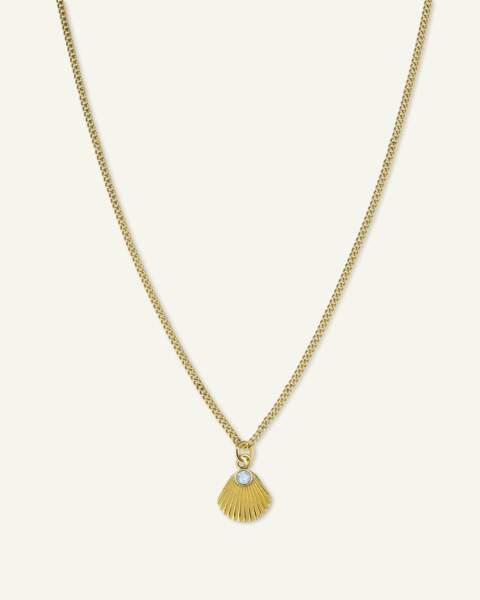 Collier avec pendentif Sunray et cristal Swarovski, Rosefield, 39€