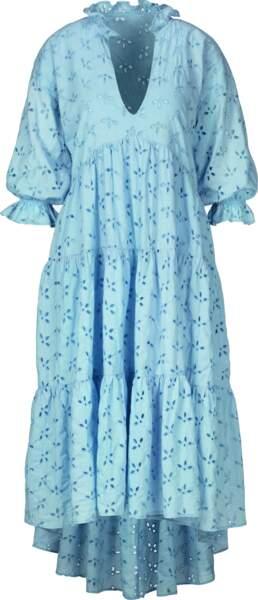 Robe longue bleu, actuellement à 34,93€ au lieu de 49,90€