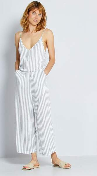 Combinaison pantalon en maille froissée, Kiabi, 18€