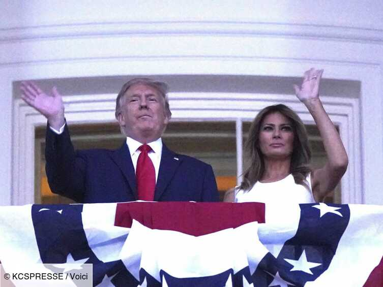 Melania Trump : ce geste qui traduit son agacement envers son époux - Voici