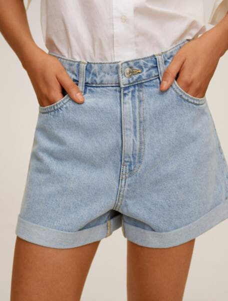 Short en denim avec revers, Mango, 25,99€