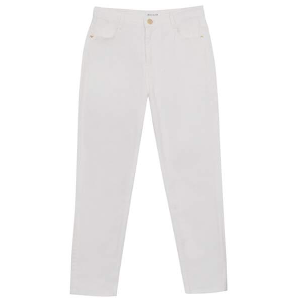 Jean blanc, 69 €, Maison 123.