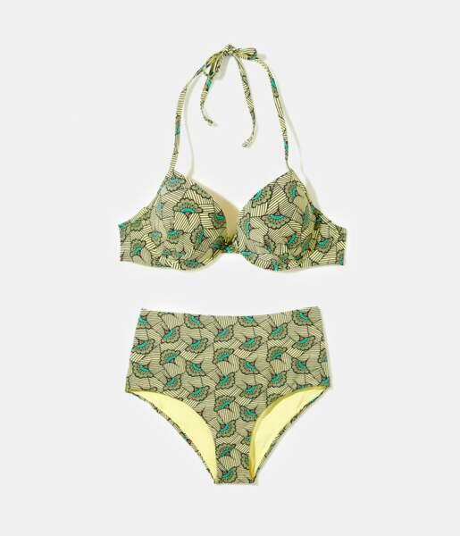 Bikini Wax, Camaïeu, bas taille haute 12,99€ et haut 17,99€