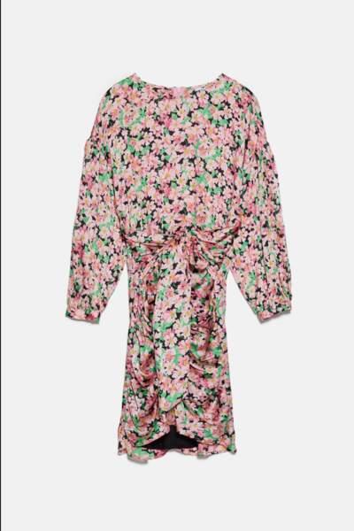 Robe drapée imprimée, Zara, 29,99€au lieu de 39,95€