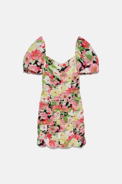 Robe à imprimé fleuri, Zara, 29,99€au lieu de 39,95€