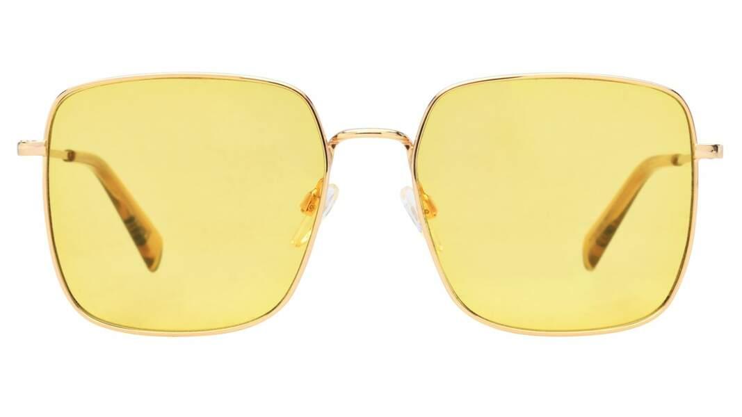 Lunettes de soleil or jaune et verres teintés, Levi's x Krys, 99€