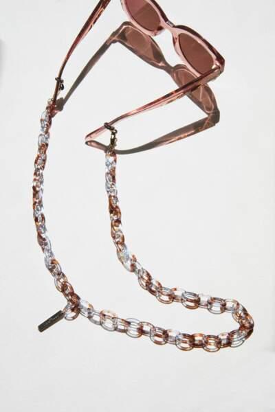 Chaîne pour lunettes Aqua, Jimmy Fairly, 29€