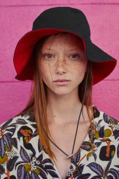 Chapeau seau réversible, Zara, 15,95€